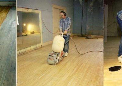 Broušení dřevěných podlah 001