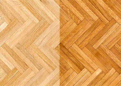 Olejování dřevěných podlah 002