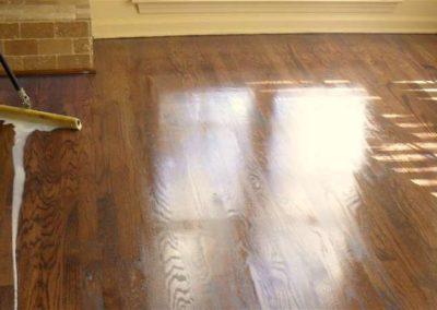 Olejování dřevěných podlah 003